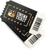 Black cinema tickets