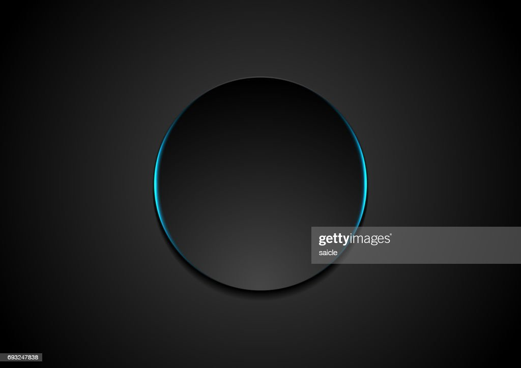 Black circle abstract tech background