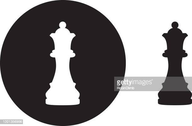 ブラックサークルクイーンチェスピースアイコン - チェス点のイラスト素材/クリップアート素材/マンガ素材/アイコン素材