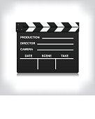 Black closed clapperboard vector