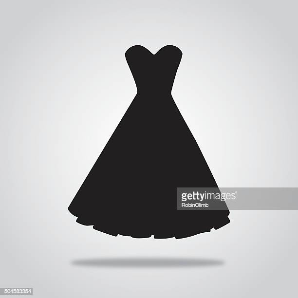 Black Cocktail dress icon