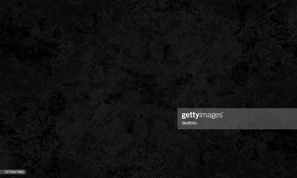 Black colored spotted cracked effect, wall texture grunge vector background- horizontal - Illustration : stock illustration