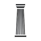 Black column pillar icon