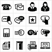 Black Contact Icons
