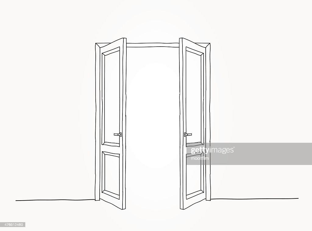 Black contour doors