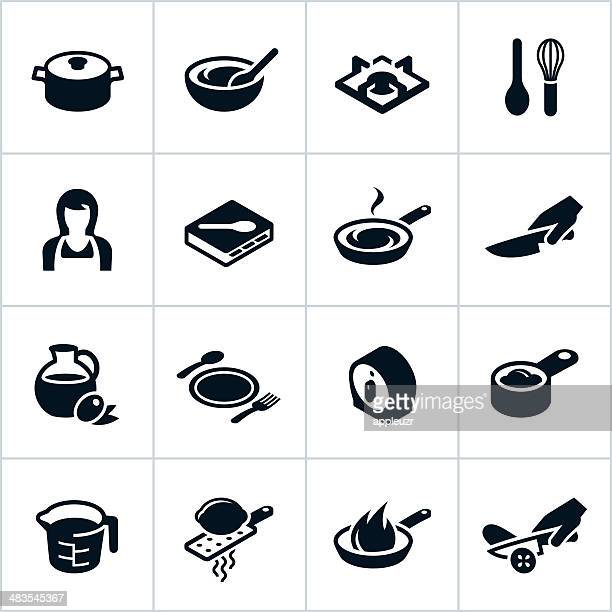 Black Cooking Icons