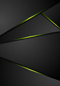Black corporate background with green glowing lines