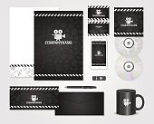Black corporate identity template for producer