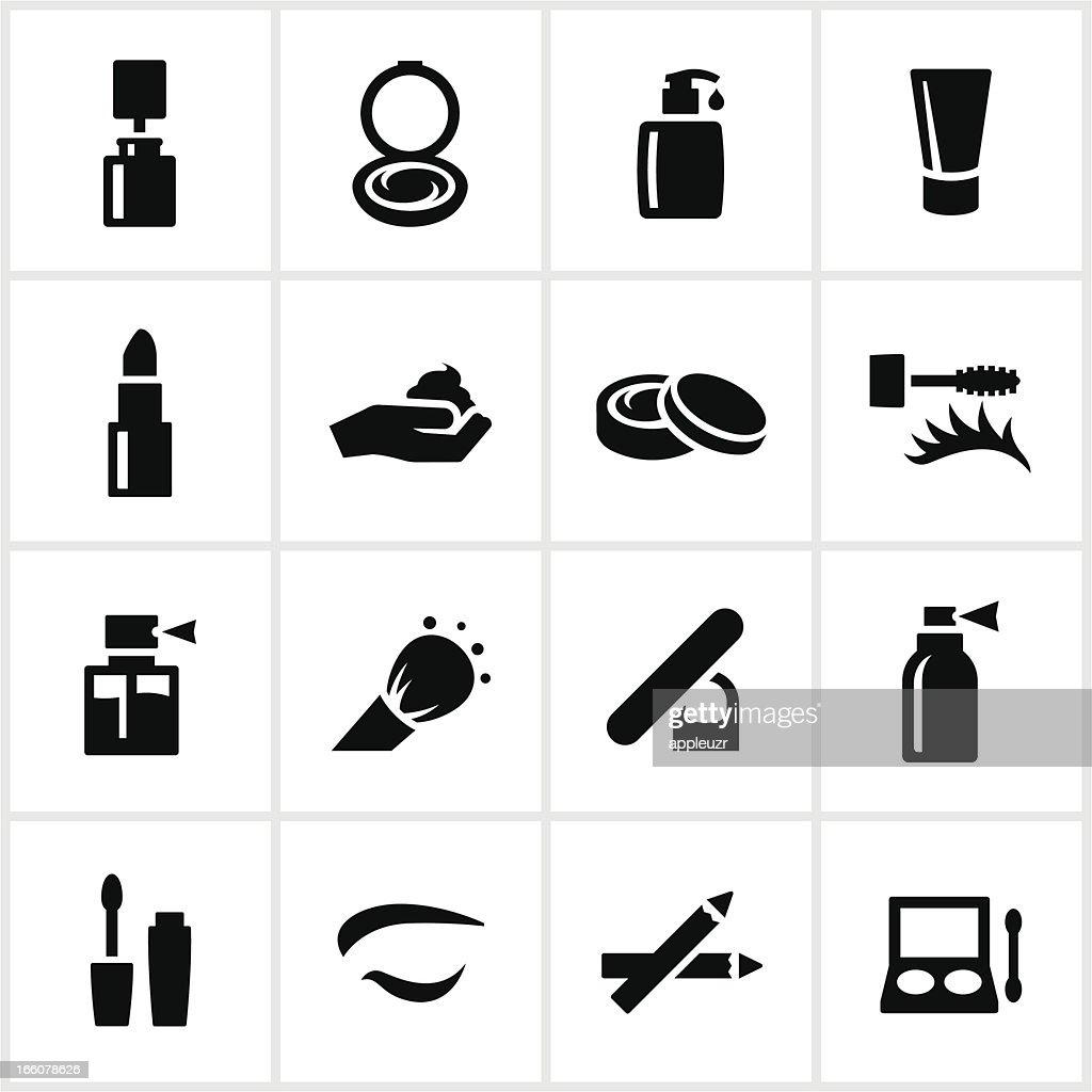 Black Kosmetik Symbole : Stock-Illustration