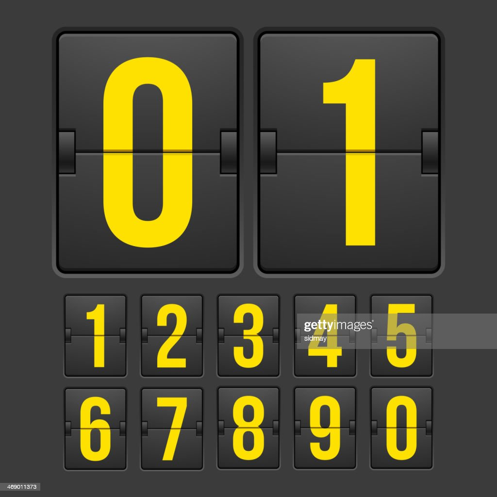 Black countdown timer with yellow numbers