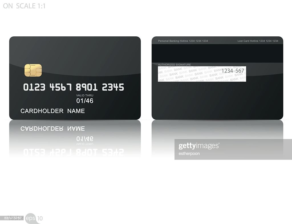 Black credit cards template