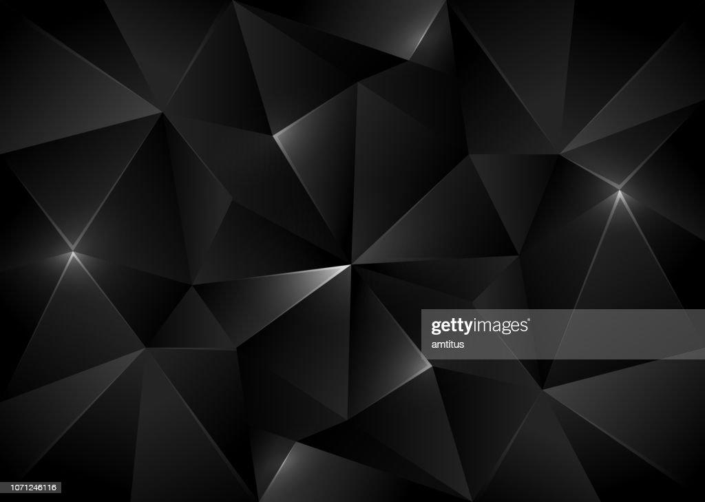 cristallo nero bg : Illustrazione stock