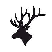 black deer antlered
