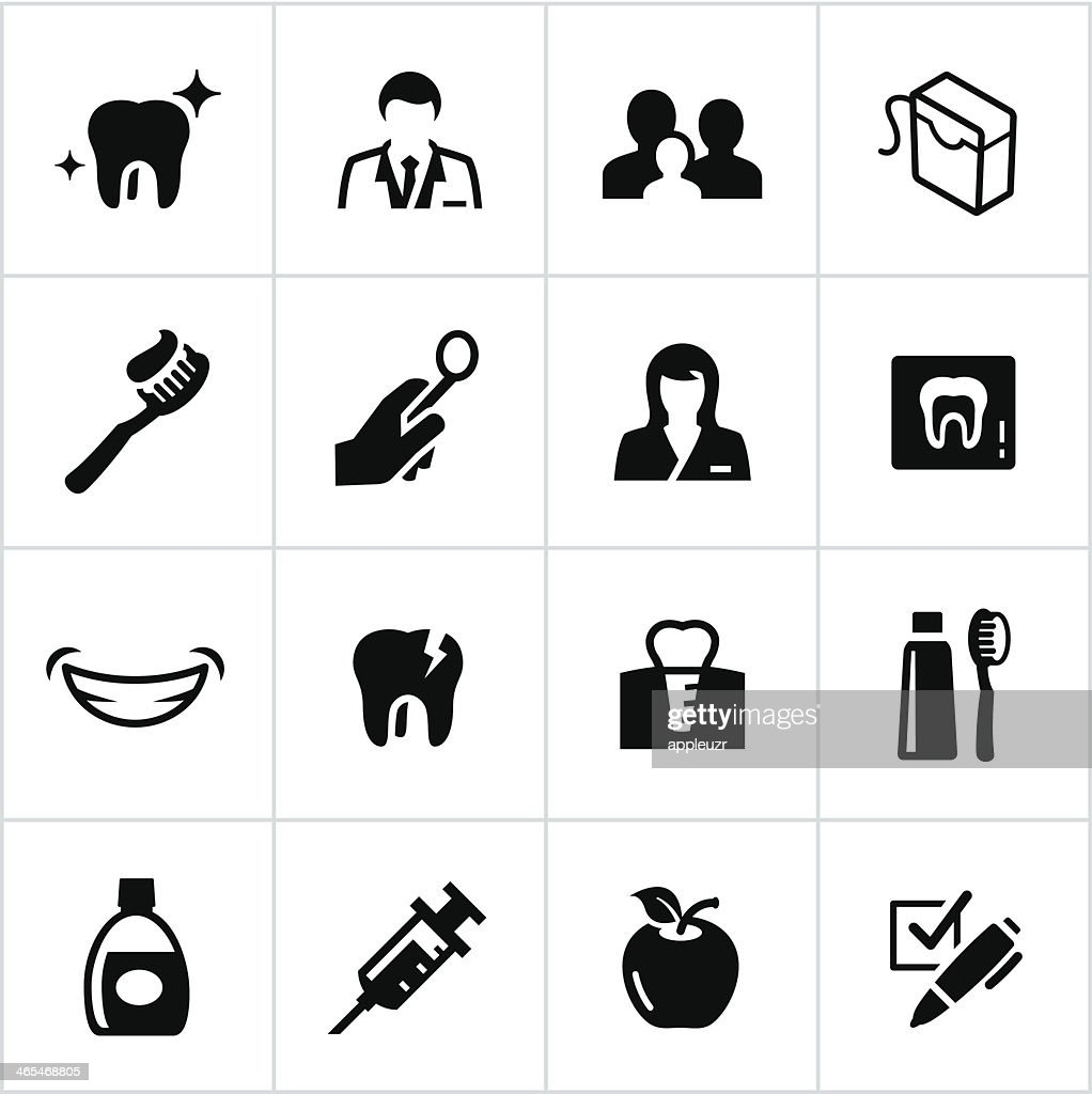 Black Dentist Icons