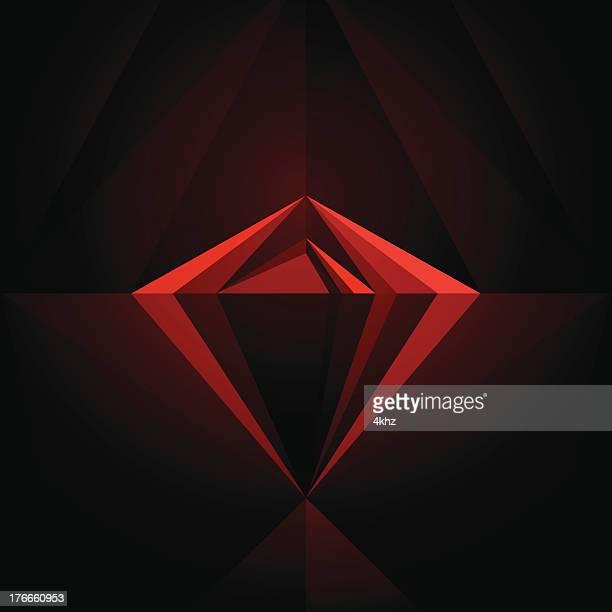 Black Diamond geometrischen Grafik Design Template, abstrakte Vektor Hintergrund