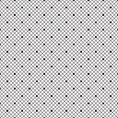 Black dotted veil seamless pattern on white background.