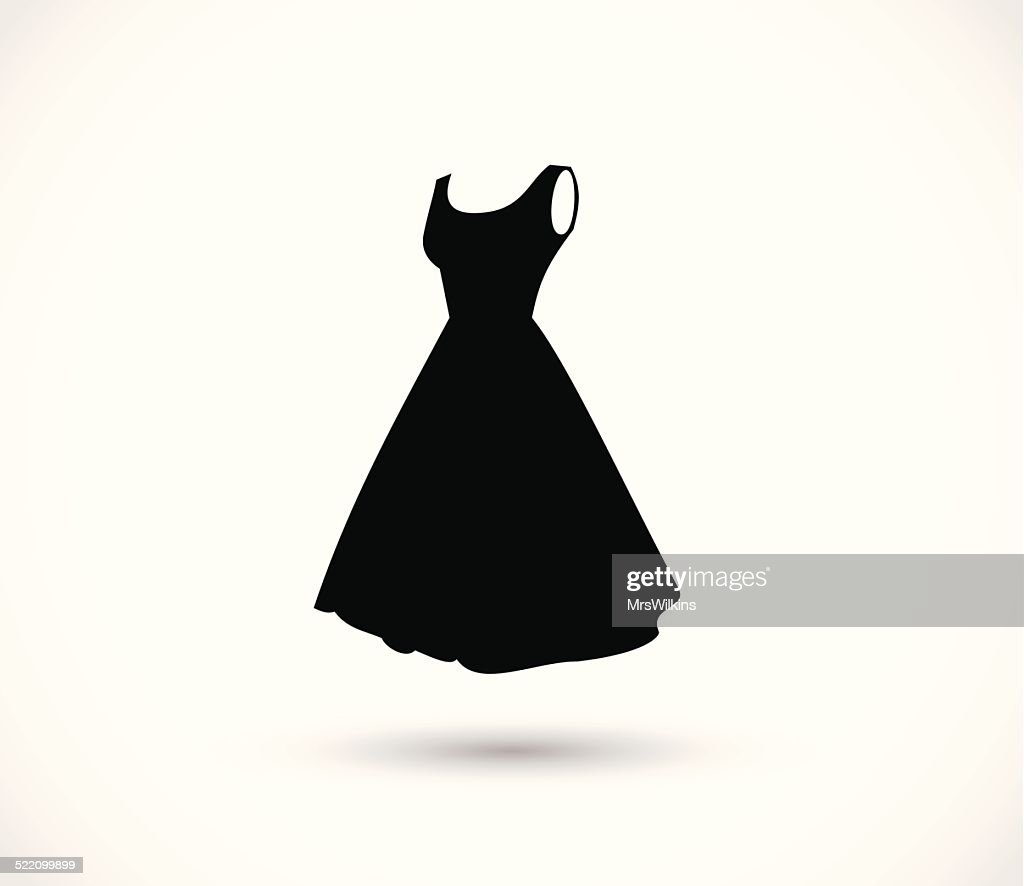 Black dress icon vector illustration
