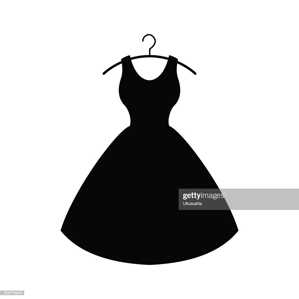 Black dress. Vector icon