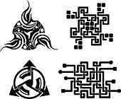 black elements for design - vector tattoo