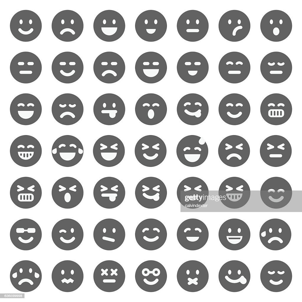 Black emoji collection