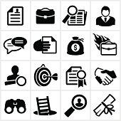 Black Employment Icons