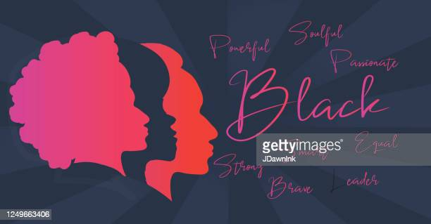 black empowerment web banner with empowering word cloud - jdawnink stock illustrations