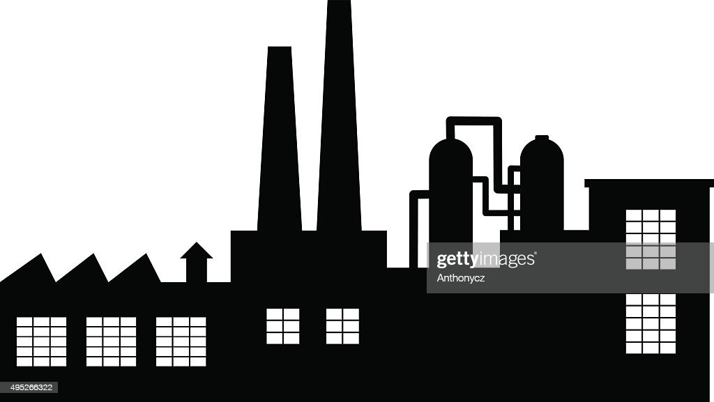 Black factory icon