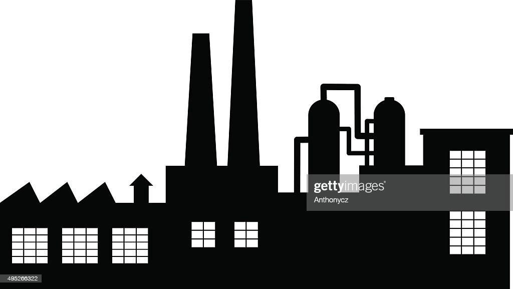 Black factory icon