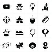 Black Fair Icons