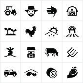 Black Farming Icons