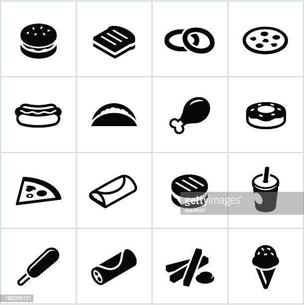 Black Fast Food Icons