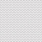 Black fine wavy line pattern black and white