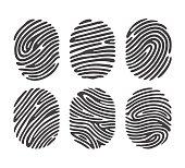 Black finger print set