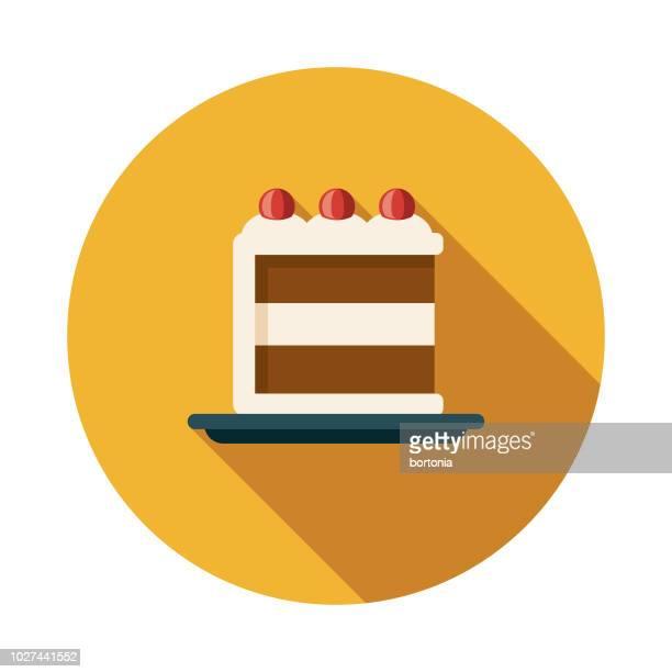 ブラック フォレスト ケーキ 1970 年代フラットなデザイン アイコン