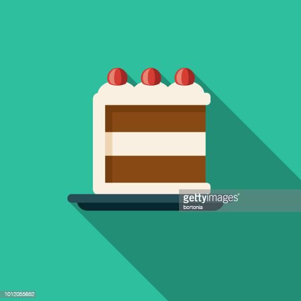ブラック フォレスト ケーキ フラット デザイン ドイツ アイコン