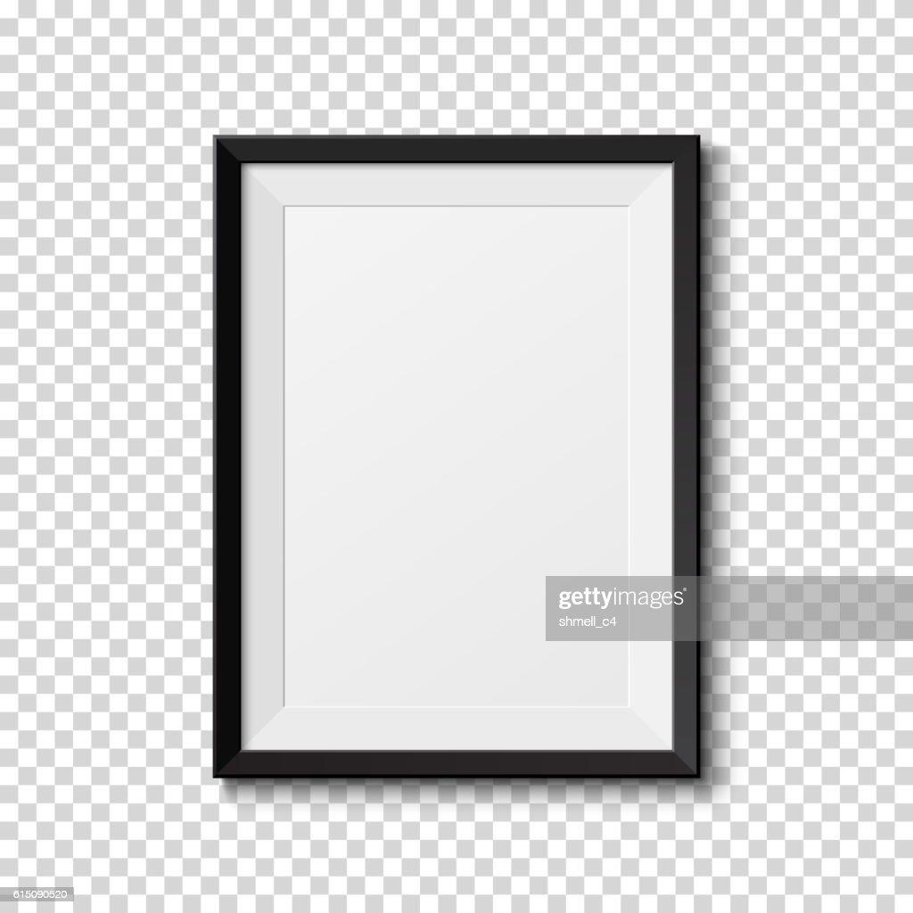 Black frame isolated on transparent background.