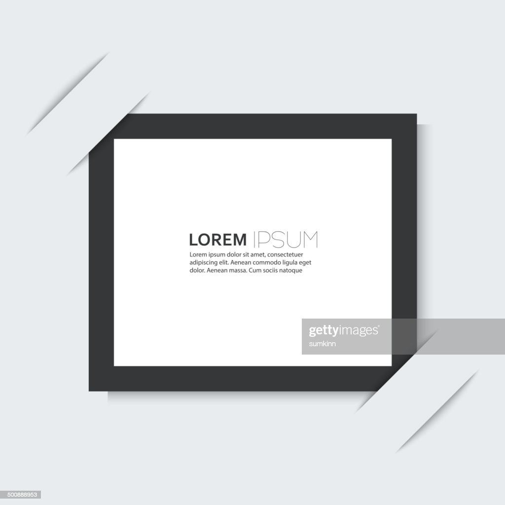 Black frame with a simple design of the background.
