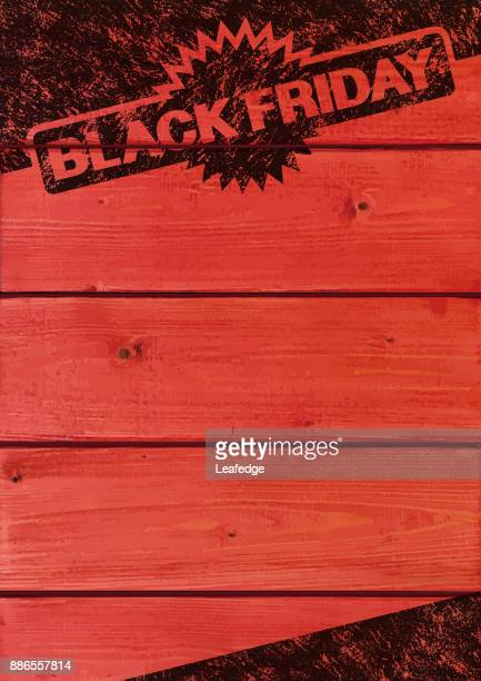 black friday background [old stamp on the plank] - friday stock illustrations, clip art, cartoons, & icons