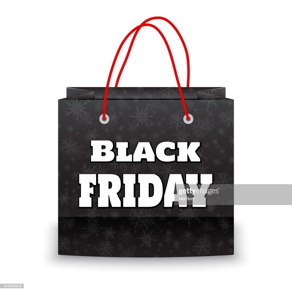 Black Friday bag vector