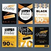 Black Friday creative social media sale web banners design