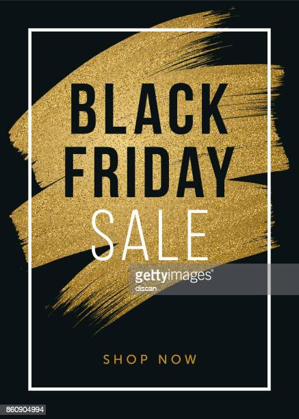 Schwarzer Freitag-Design für Werbung, Banner, Broschüren und Flyer.