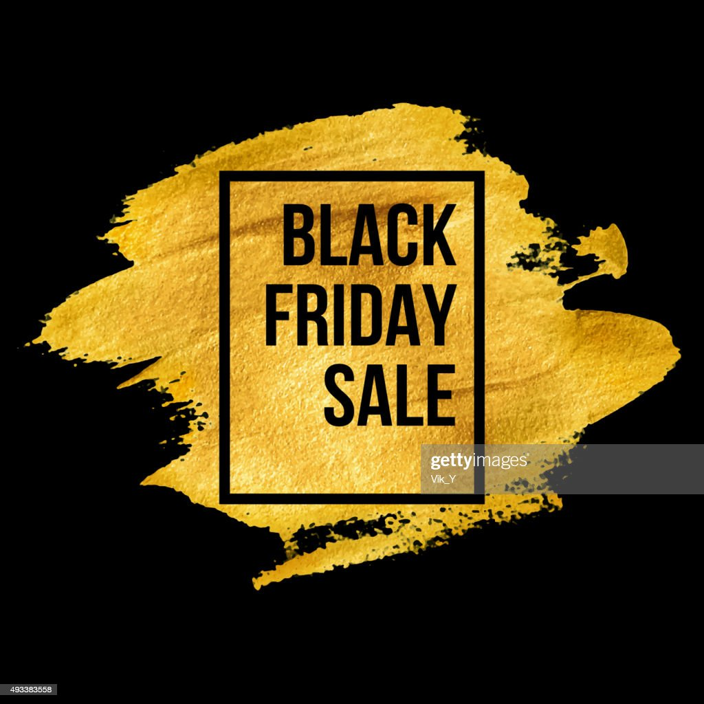 Black Friday  Designs on gold blob. Vector illustration