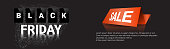 Black Friday Horizontal Banner Shopping Sale Poster Design