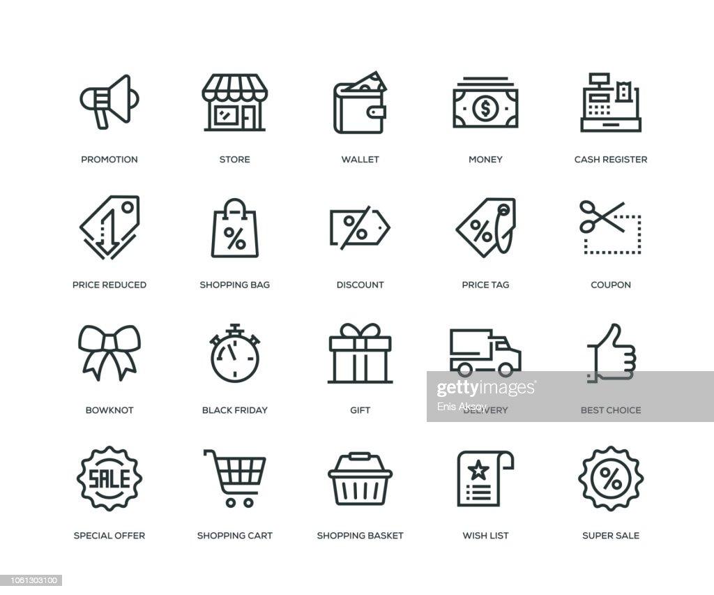 Black Friday Icons - Line Series : Stock Illustration