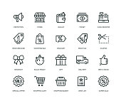 Black Friday Icons - Line Series