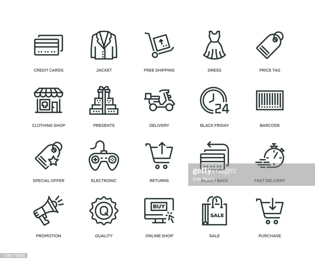 Black Friday Icons - Line Series : stock illustration