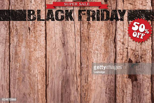 black friday logo on the board - bulletin board flyer stock illustrations