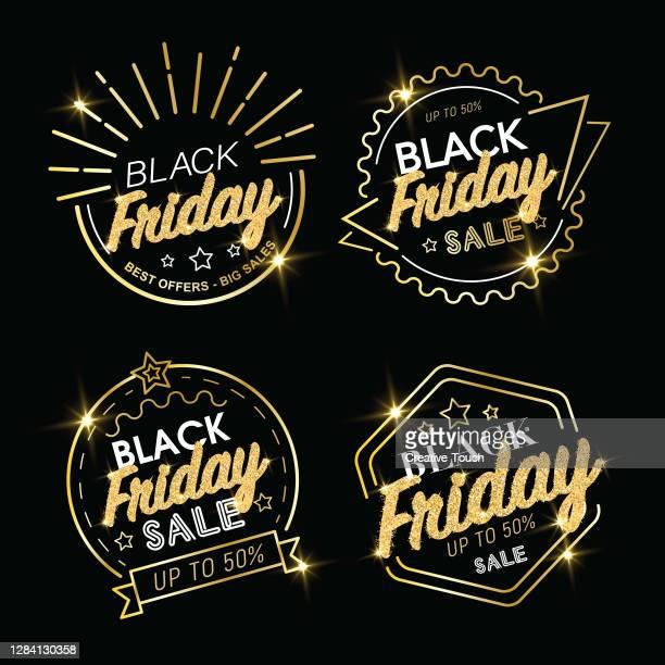 black friday luxus-ikone-set - freitag stock-grafiken, -clipart, -cartoons und -symbole