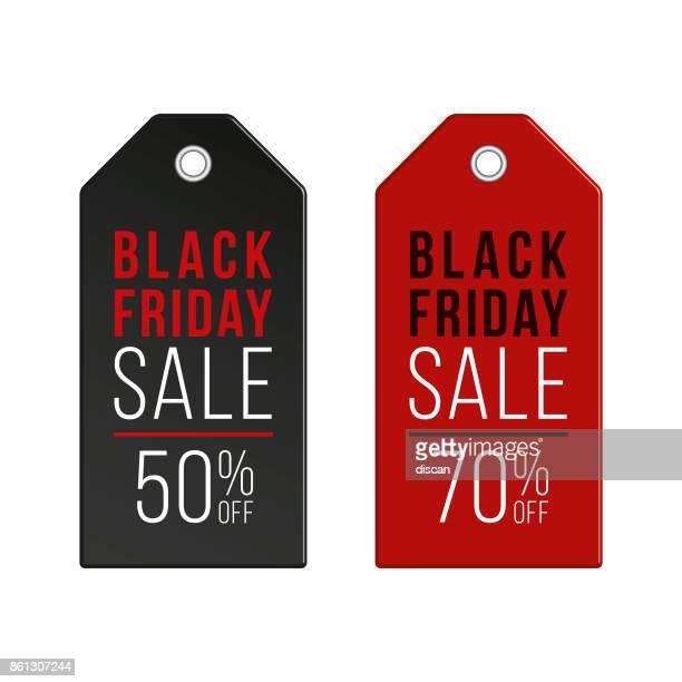 Black Friday price tags.