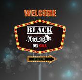 Black Friday retro light frame